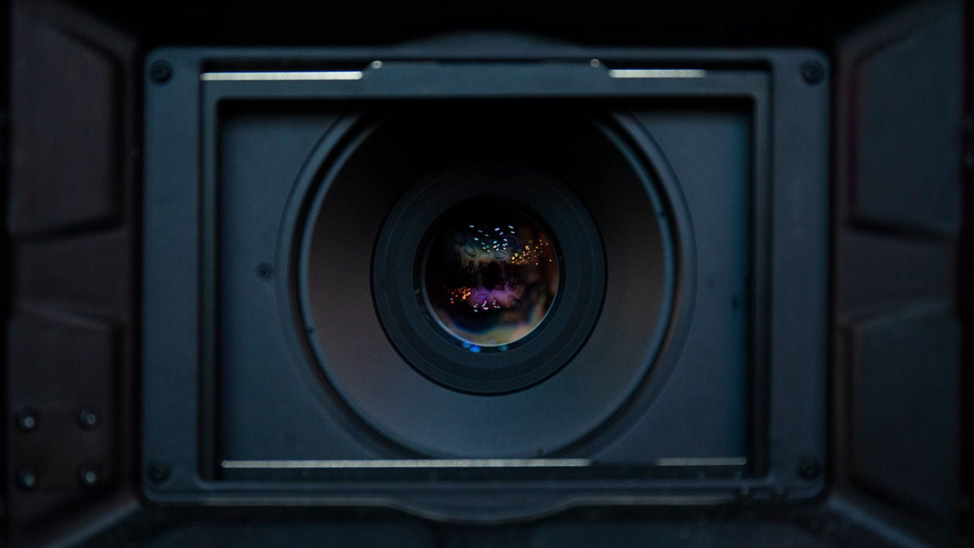 Looking down the barrel of a lens